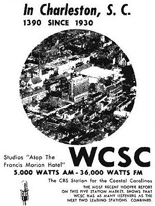 1390 WCSC Radio, Charleston, South Carolina Tribute   Home